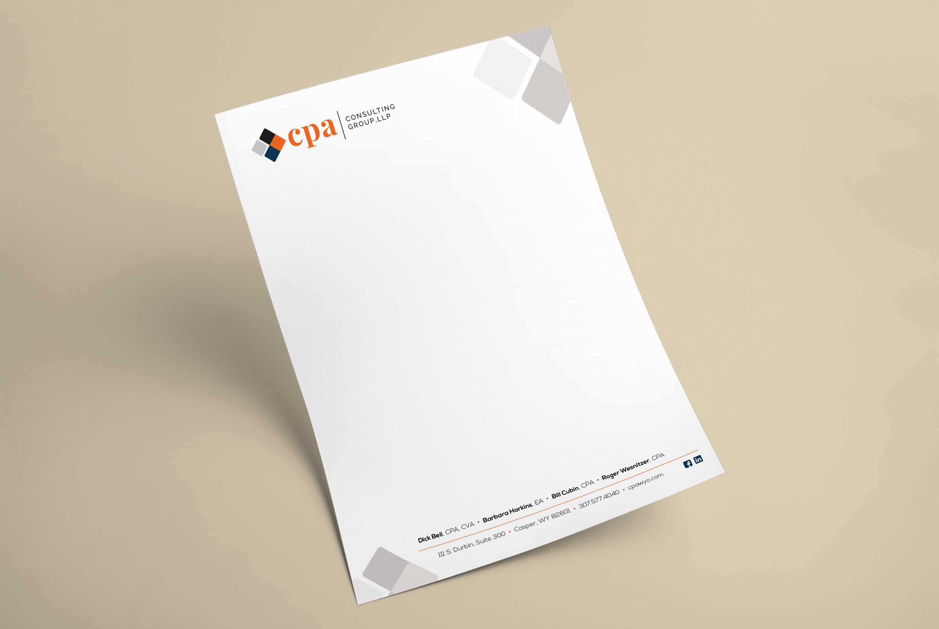 CPA Consulting Group Letterhead