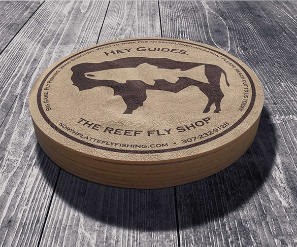 Reef Fly Shop Coaster design