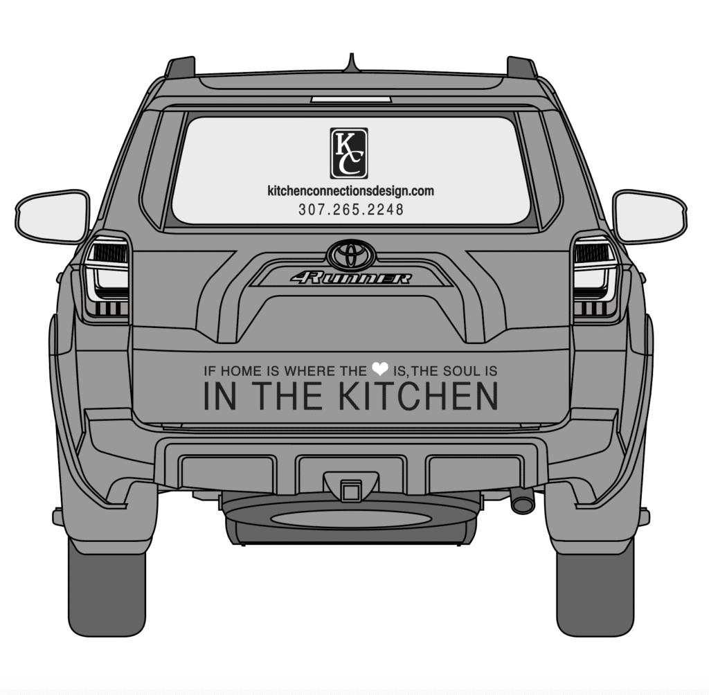 Kitchen Connections Car Wrap