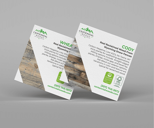 Designed shipping labels for Centennial Woods.